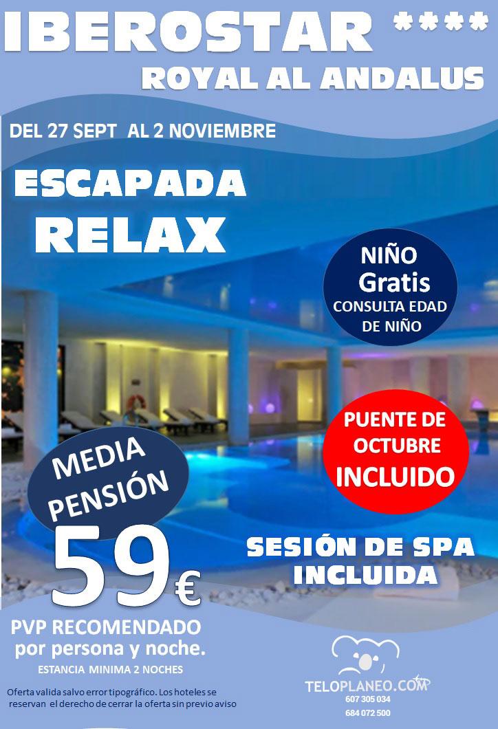 PUENTE DEL PILAR EN IBEROSTAR ROYAL AL ANDALUS 4* (CHICLANA - CÁDIZ)