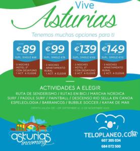 VIVE ASTURIAS CON ACTIVIDADES DESDE 89 €